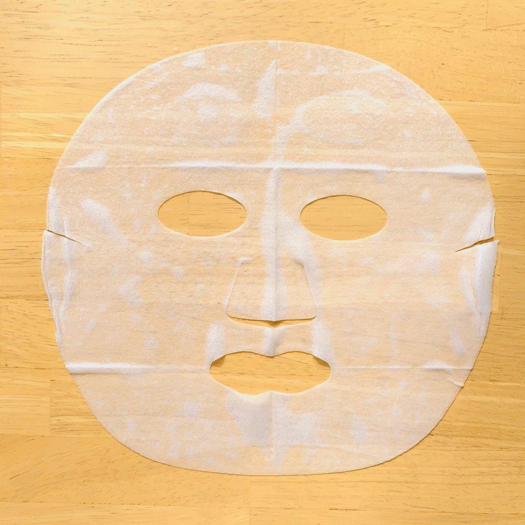 お米のマスクを広げてみた