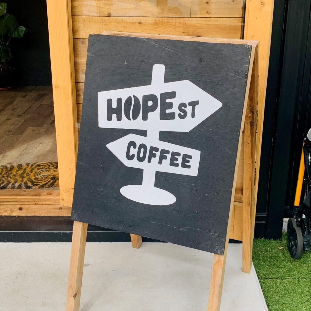 HOPE STREET COFFEEの看板