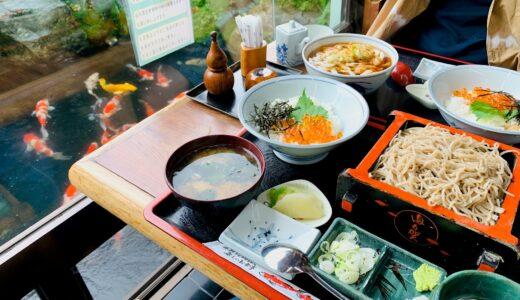 【口コミ】町田市忠生の「満留賀」で鯉を見ながら蕎麦ランチ!