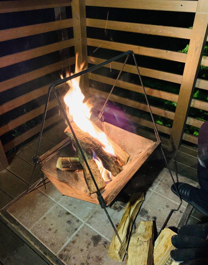 PICA Fujiyamaの焚き火